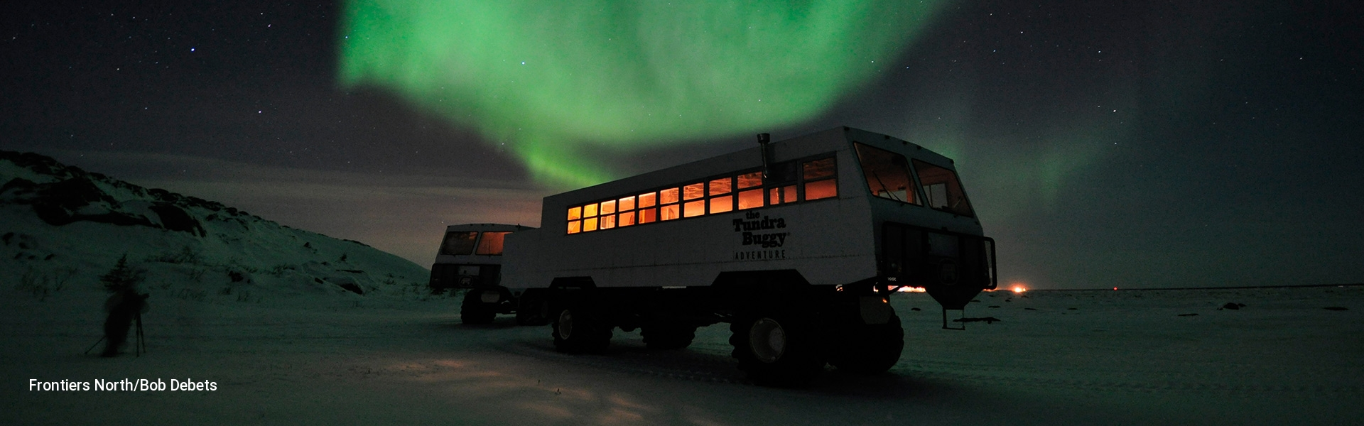 Tundra Buggy under the Northern Lights