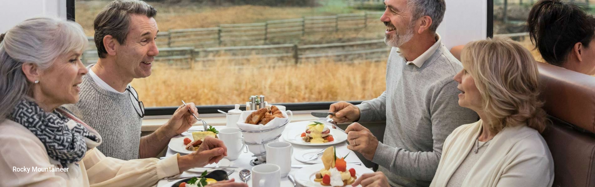 Dining in the Rocky Mountaineer Gold Leaf Service